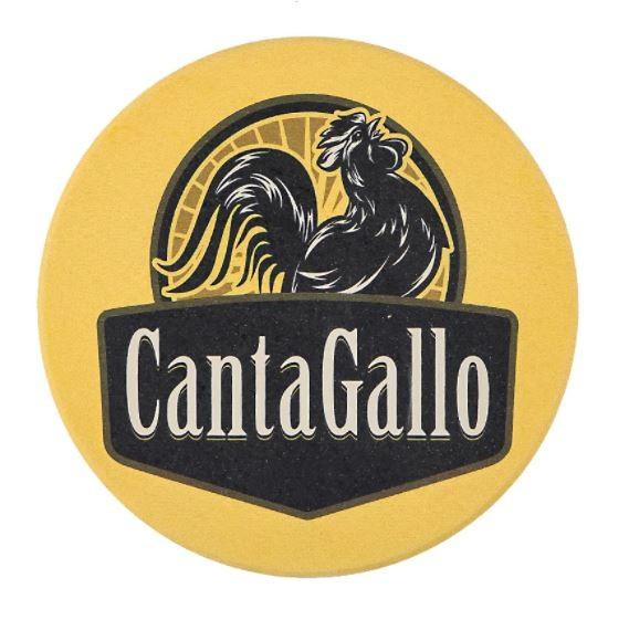 Porta Copo Amarelo c/ 4un Cantagallo