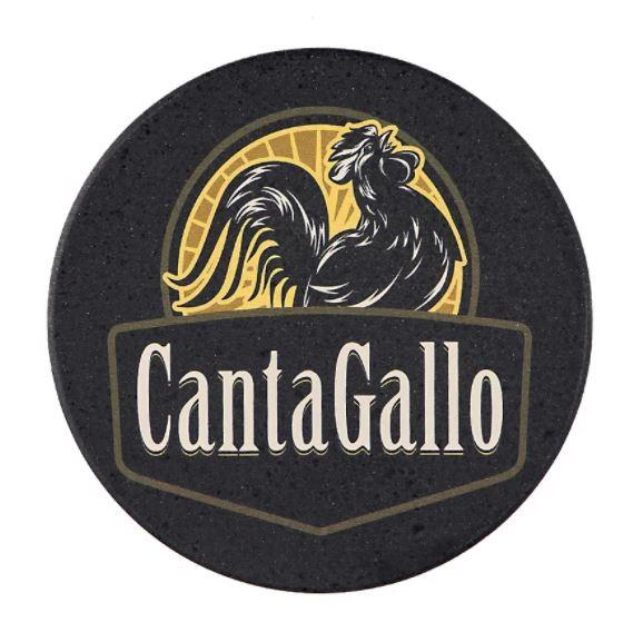 Porta Copo Preto c/ 4un Cantagallo