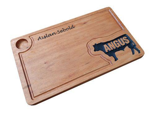 Tábua de Carne Personalizada em Madeira Angus