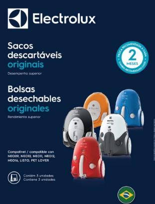 SACO DESCARTÁVEL DE ASPIRADOR DE PÓ NEO09,NEO10,NEO11,NEO12,NEO16,LISTO,PET LOVER.