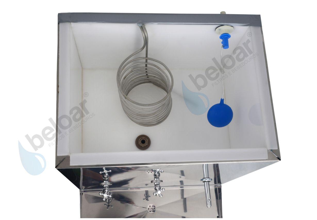 Bebedouro Industrial Beloar de Galão Coluna 100 Litros 2 Torneiras + 1 Esguicho