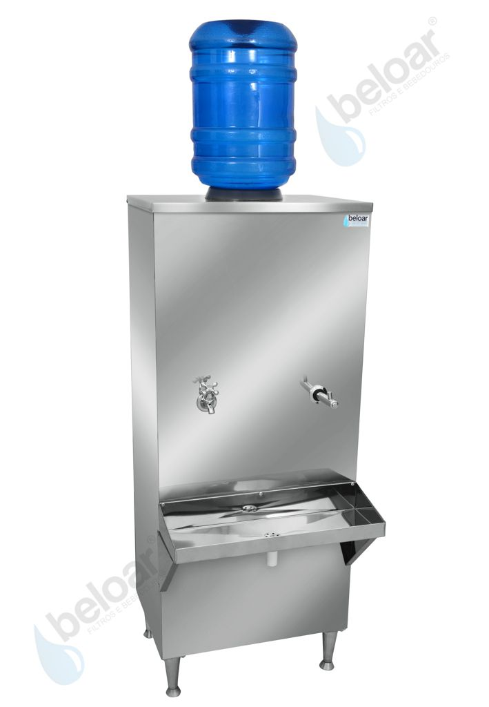 Bebedouro Industrial Beloar de Galão Coluna 50 Litros 1 Torneira + 1 Esguicho