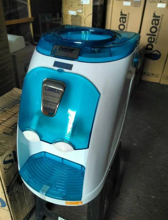 Bebedouro Stilo Hermético Libell - Branco c/ Azul