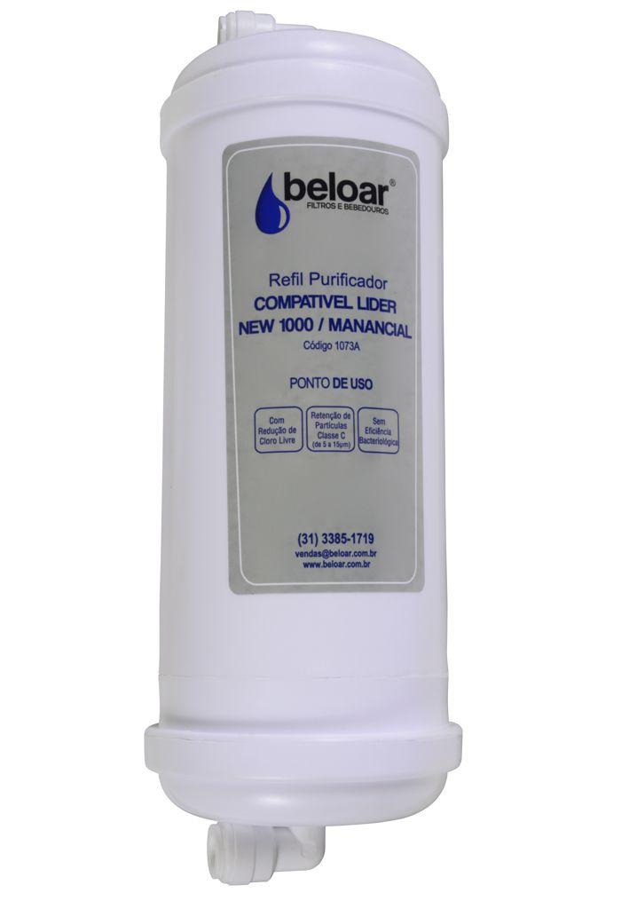 Filtro LIDER – Elemento Filtrante Carvão Ativado para purificadores e bebedouros LIDER