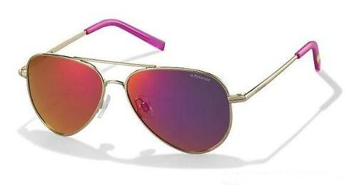 Óculos De Sol Polaroid Pld 8015/n J5gai 52 Aviador Infantil Polarizado