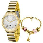 Kit Relógio Feminino Lince Lrg4507l Ku45