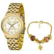Kit Relógio Feminino Lince Lrg4505l Ku47