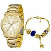 Kit Relógio Feminino Lince Lrg4506l Ku51