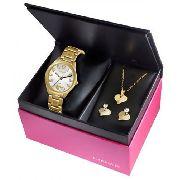 Kit Relógio Feminino Lince Lrg4290l K117