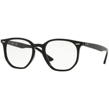 Armação De Óculos Ray-ban Hexagonal Rb7151 2000 52-19 145 Preto