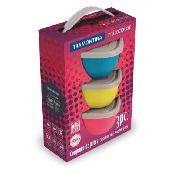 Conjunto De Potes 3 Peças Mix Color Tramontina 25099/953