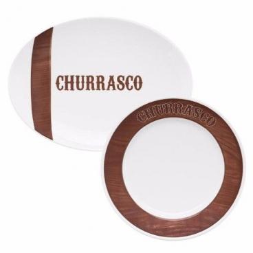 Conjunto Churrasco Tradição Oxford Porcelanas 10 Pçs