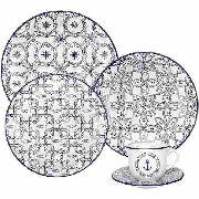 Aparelho de Jantar Floreal Nautico 30 peças Oxford