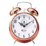 Relógio Despertador Corda Herweg 2384 Cobre