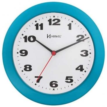 Relógio Parede Herweg Azul 6103 267