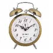 Relógio Despertador H Herweg 2380 Dourado Picoteado