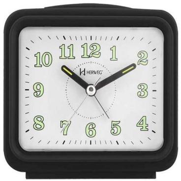 Relógio Despertador Herweg 2588 Preto