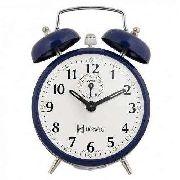 Relógio Despertador Corda Retrô Herweg 2208 Azul Escuro