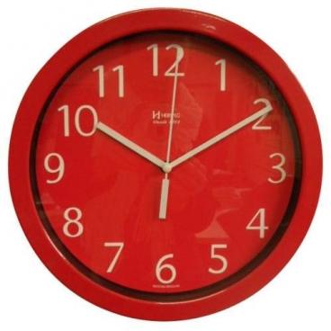 Relógio Parede Herweg Alumínio Vermelho 6719