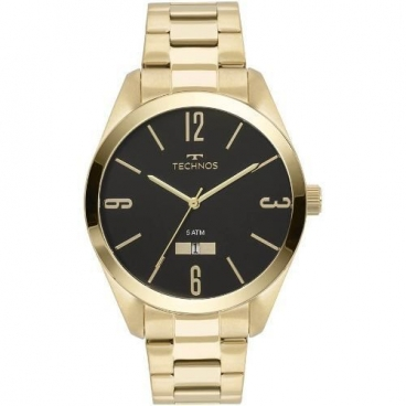 Relógio Technos Dourado Masculino Classic Steel 2115mnw/4p