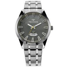 Relógio Technos Masculino Prateado 2115kzb/1c