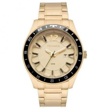 Relógio Technos Masculino Dourado 2117las/4x