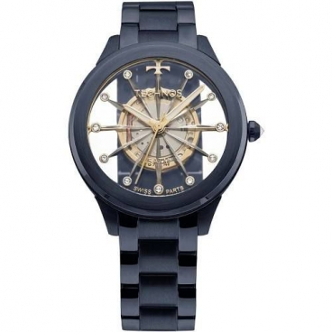Relógio Technos Feminino Cristal Azul F03101ad/4w