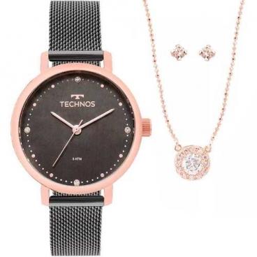 Kit Relógio Technos Feminino Fashion Trend 2035mmo/k5c