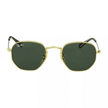 Óculos De Sol Ray-ban Infantil Rj9541sn 223/71 Hexagonal Dourado