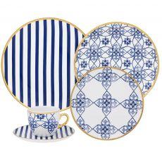 Aparelho de Jantar Coup Lusitana 30 peças Oxford Porcelanas