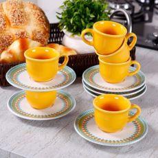 Aparelho de Jantar e Chá Floreal Bilro Oxford 30 Peças