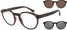 Armação De Óculos Clip On Emporio Armani Ea4152 5802/1W - Redondo