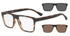 Armação De Óculos Clip On Emporio Armani Ea4115 5802/1w