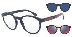 Armação Óculos De Grau Clip On Emporio Armani Ea4152 5669/1W