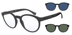 Armação Óculos de Grau Clip On Empório Armani EA4152 5801/1W