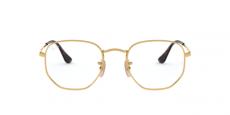 Armação Óculos de Grau Ray-Ban RB6448 2500 Hexagonal Dourado