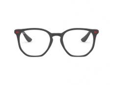 Armação Óculos de Grau Ray-Ban Unissex RB7151-M F602 52 - Hexagonal - Linha Ferrari