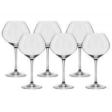 Conjunto de Taças Cristal para Vinho Bourgogne 610 ml Slim  Oxford – 6 Peças