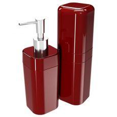 Conjunto para Banheiro Coza Splash Vermelho
