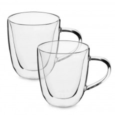 Dupla de Xícara de Chá Vidro 200 ML Borossilicato