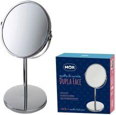 Espelho de Aumento Dupla Face Giratório MOR