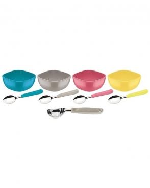 Kit Para Sobremesa Mix Color 09 Peças Tramontina