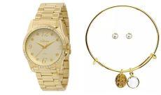 Kit Relógio Condor Feminino Co2036ci/k4x Dourado