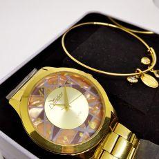 Kit Relógio Condor Feminino Co2036CS/K4M