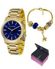 Kit Relógio Feminino Lince LRG4506L KU52