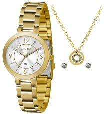 Kit Relógio Feminino Lince lrg4516l ku71