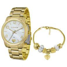 Kit Relógio Feminino Lince LRG4553L KU84