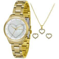 Kit Relógio Feminino Lince LRG4557L KV10