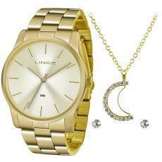 Kit Relógio Feminino Lince LRGJ078L KV57