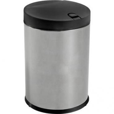 Lixeira Press Inox com Tampa  4 litros Preto Brinox- FRETE GRÁTIS